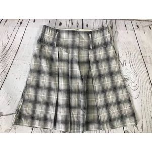 The Limited Skirt Plaid Black White Gray Size 4